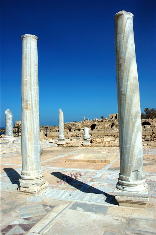 Roman baths in Caesarea